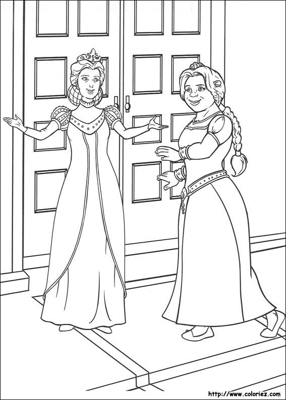 Coloriage coloriage du bal du mariage de fiona - Coloriage shrek ...