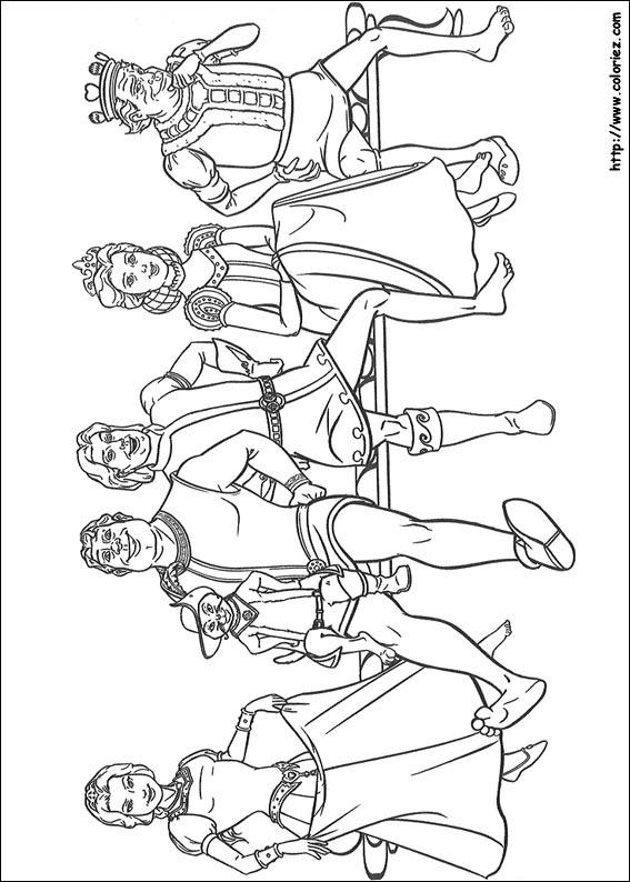 Coloriage coloriage des personnages de shrek - Coloriage de tous ...