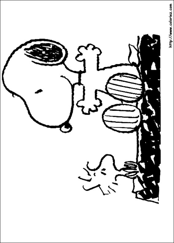 Coloriage snoopy et woodstock - Snoopy dessin ...