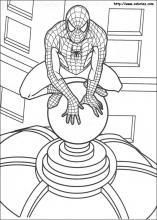 les coloriages de spiderman - Coloriage De Spiderman