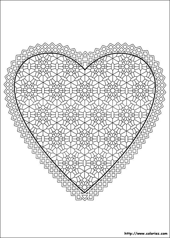 coloriage coloriage d 39 un coeur de la saint valentin. Black Bedroom Furniture Sets. Home Design Ideas
