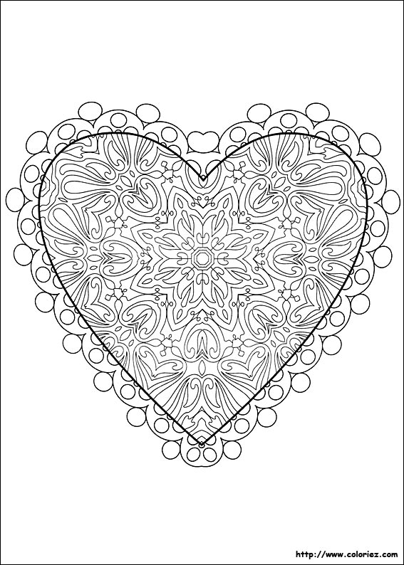 coloriage anti stress coeur