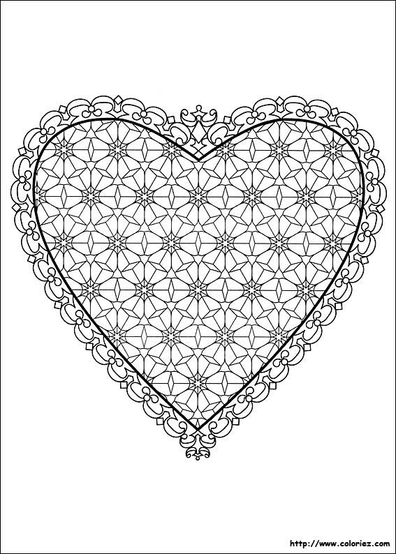 Coloriage coloriage d 39 un coeur d 39 amoureux - Un coeur amoureux ...
