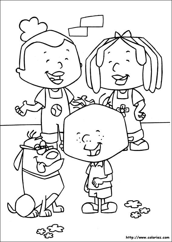 Coloriage la famille de stanley - Coloriage de la famille ...