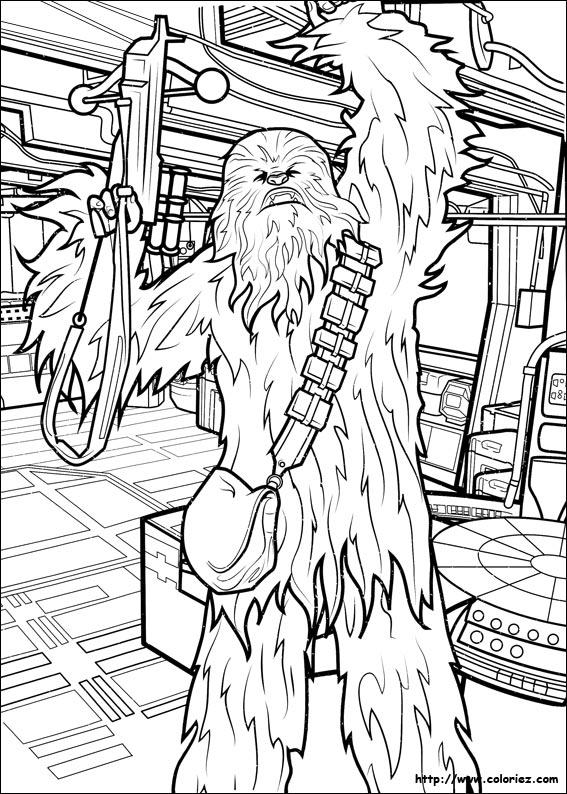 Coloriage Chewbacca Armes En Main