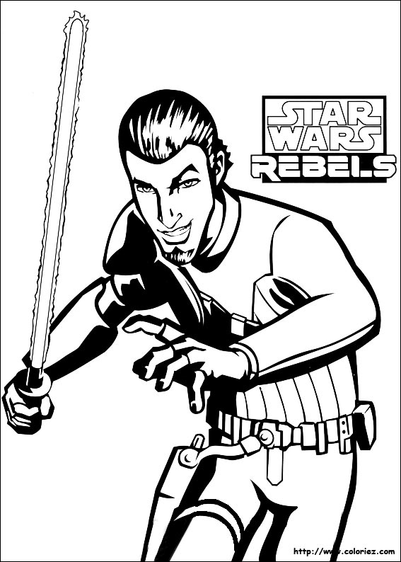 Coloriage kanan - Stars wars coloriage ...