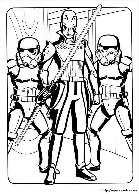 Coloriage l 39 inquisiteur - Dessin a colorier star wars ...