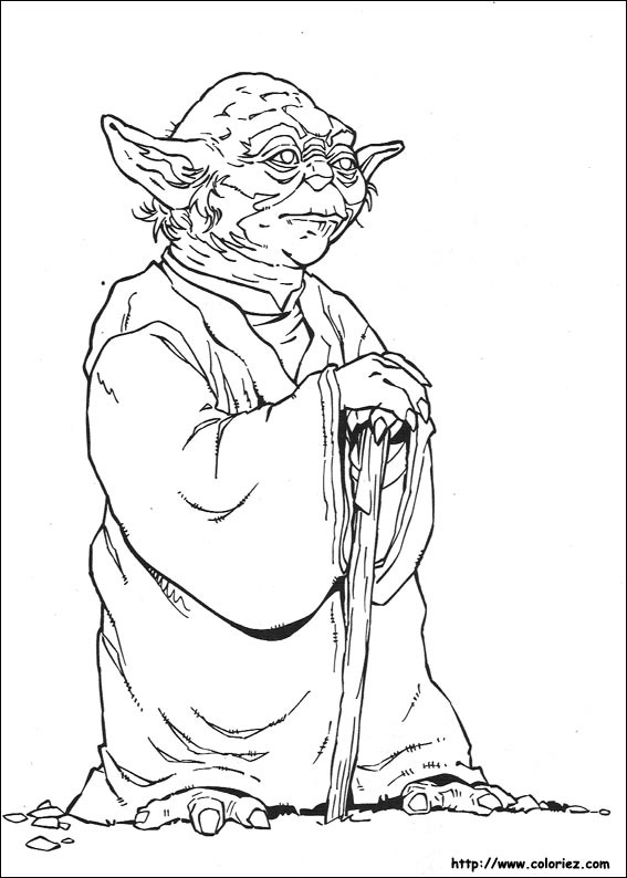COLORIAGE Star Wars Yoda