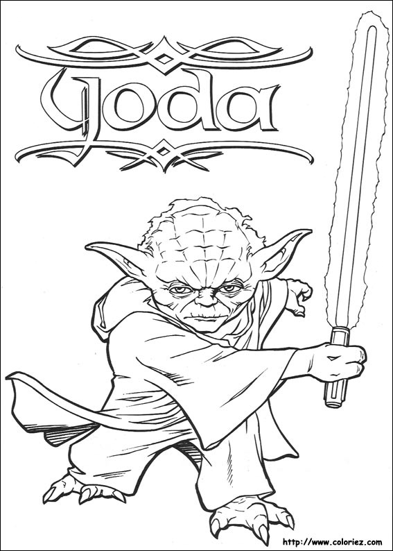 coloriage a imprimer star wars