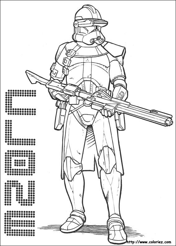 Coloriage star wars un clone de l 39 arm e de la r publique - Dessin armure ...