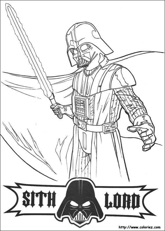 Coloriage star wars seigneur sith - Coloriage lego starwars ...