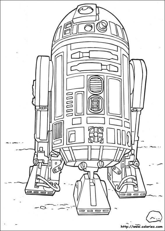 r2d2 coloring pages - photo #5