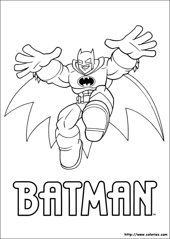Coloriage coloriage de batman - Coloriage batman ...