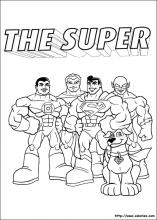 Coloriage de la bande des super friend