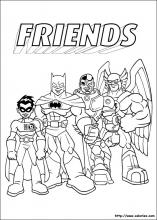 Coloriage des super friends