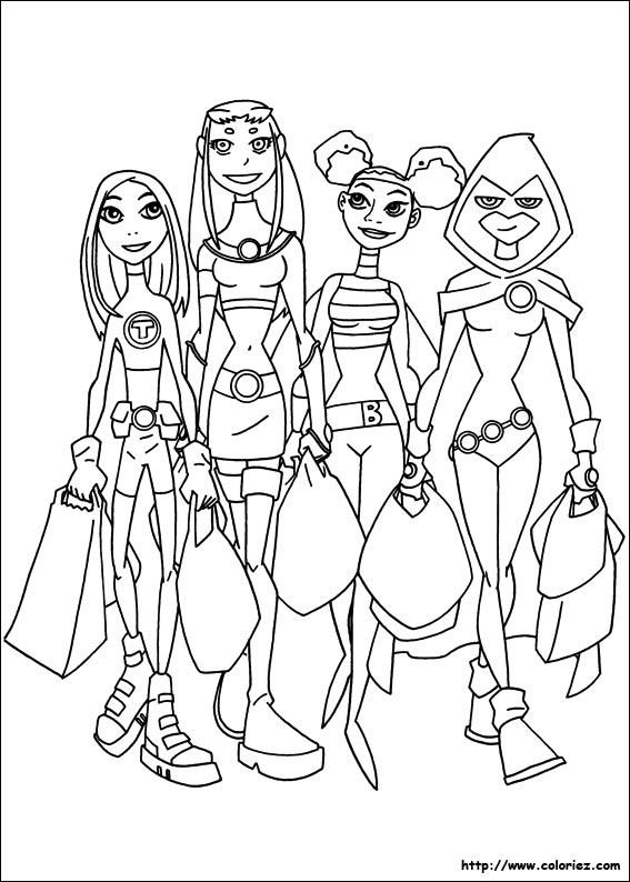 girls going shopping coloring pages | COLORIAGE - Shopping entre filles