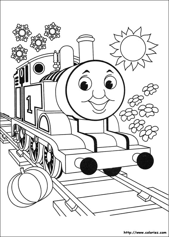Coloriage thomas la petite locomotive - Thomas le petit train coloriage ...