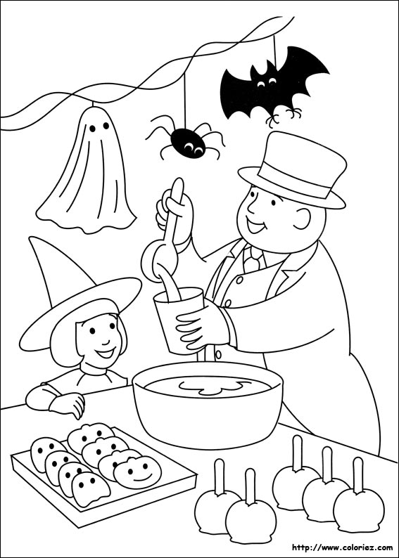 Coloriage halloween - Coloriage thomas ...