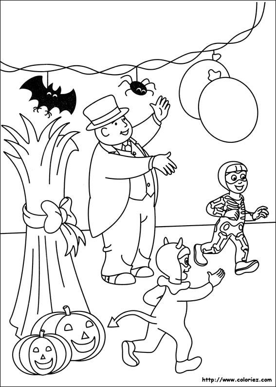 Coloriage la grande f te d 39 halloween - Coloriage thomas ...