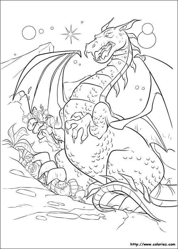 Coloriage le dragon fafnir - Coloriage thor ...