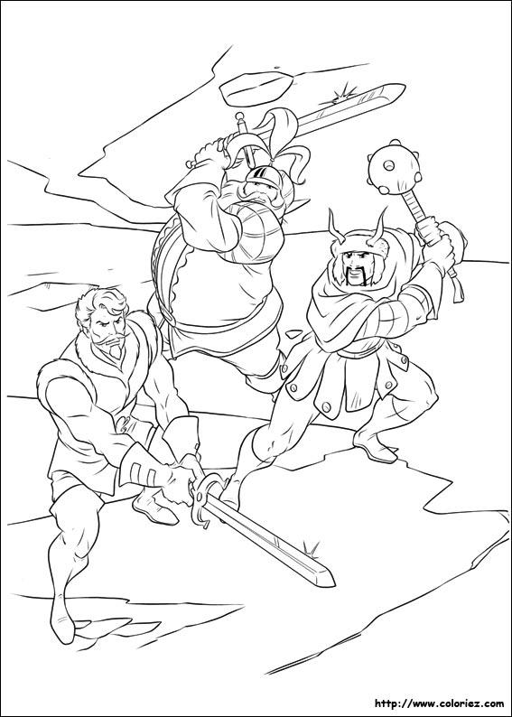 Coloriage coloriage des trois guerriers - Coloriage thor ...