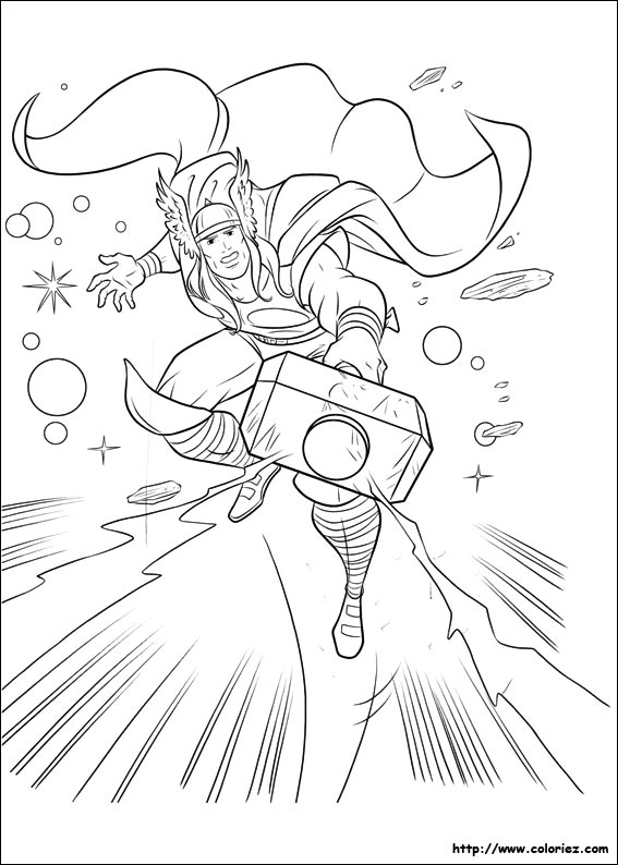 Coloriage mighty thor - Coloriage thor ...