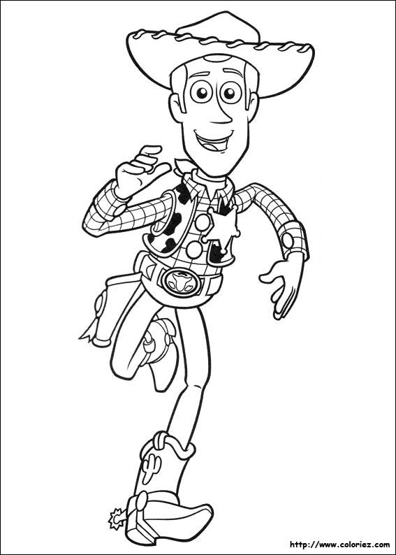 Coloriage coloriage de woody qui court - Coloriage toy story 3 ...