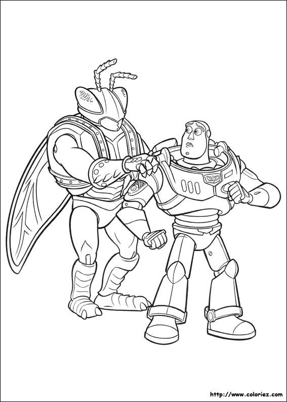 Coloriage coloriage de buzz et twitch - Coloriage toy story 3 ...