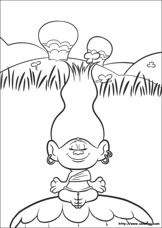 Coloriage trolls 07 - Dessin de troll ...