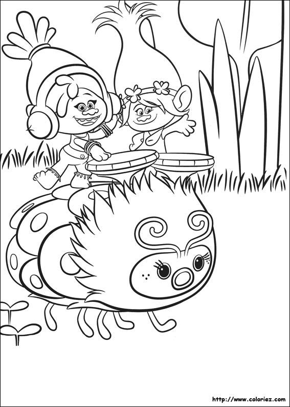 Coloriage dj suki et poppy - Dessin de troll ...