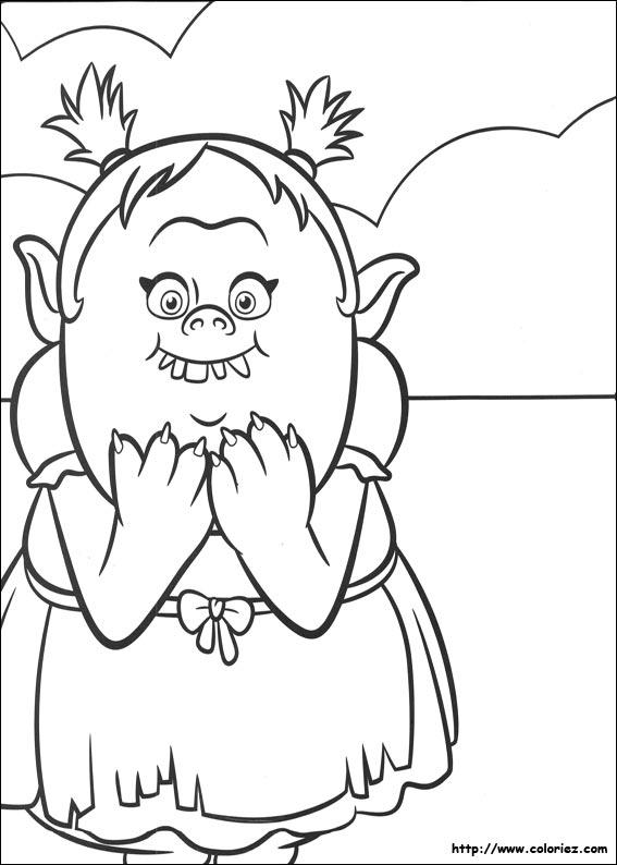 Coloriage Gratuit Trolls.Coloriage Chasseur De Troll Coloriage A Imprimer Coloriage