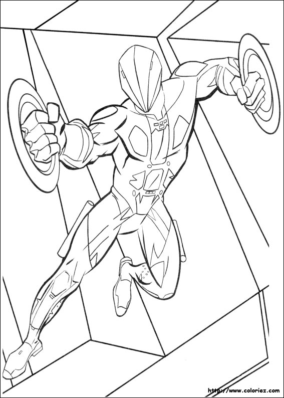 Tron Spiderman Coloring Pages