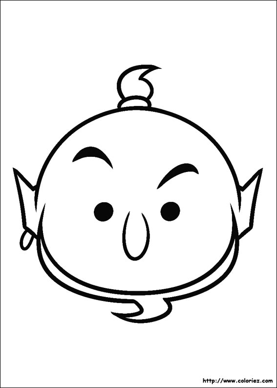 Coloriage tsum tsum genie d 39 aladdin for Tsum tsum coloring pages