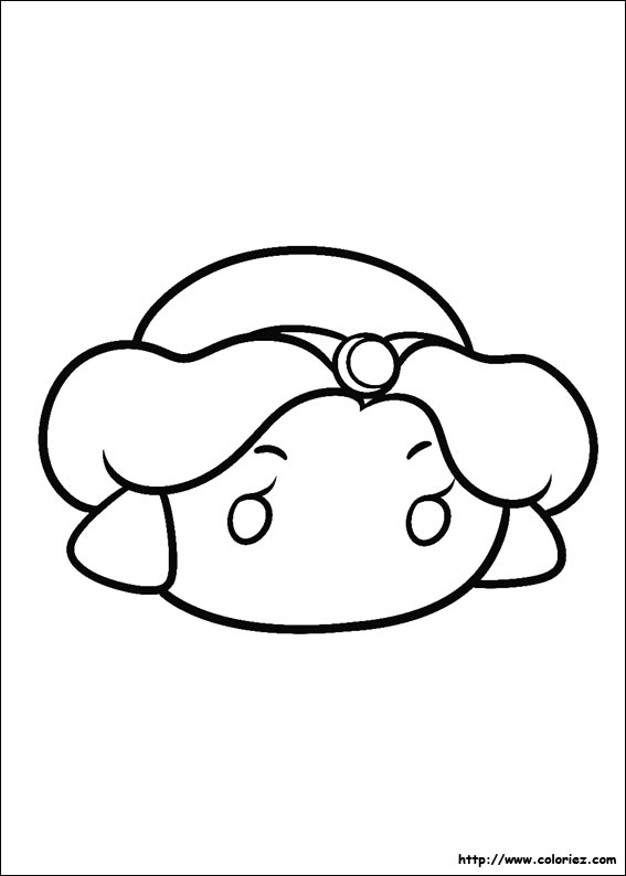 Coloriage tsum tsum jasmin for Tsum tsum coloring pages