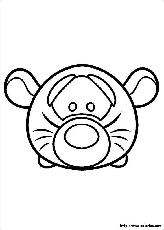 COLORIAGE - Tsum Tsum Tigrou