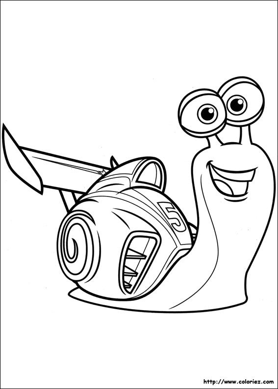 Coloriage turbo le petit escargot - Coloriage escargot turbo ...