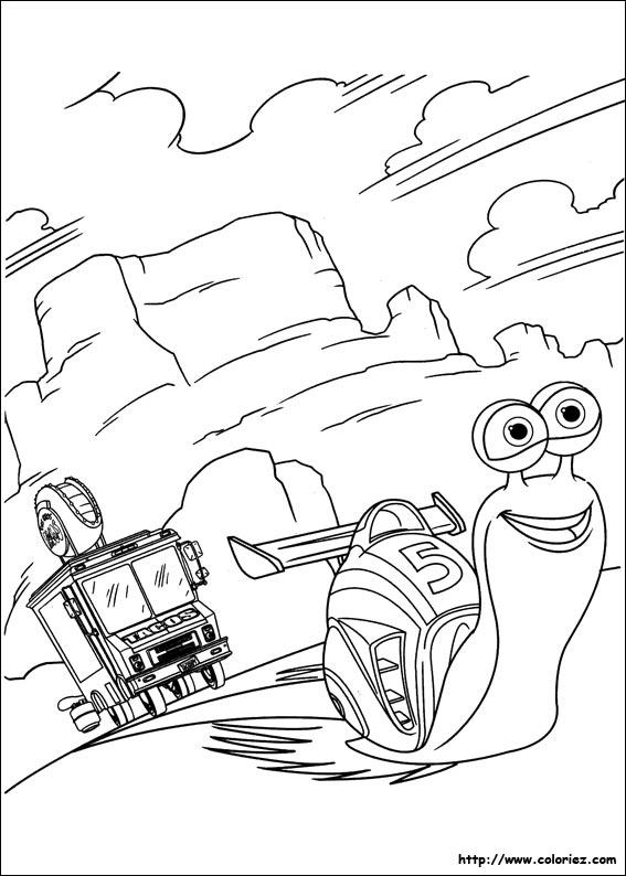 Coloriage turbo trace la route - Turbo coloriage ...