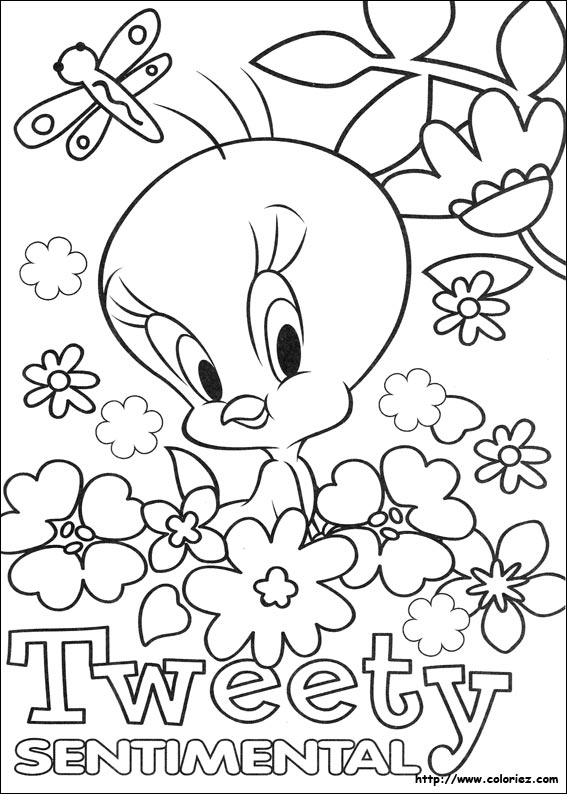 Coloriage Tweety Sentimental Baby In Beautiful Coloring Image