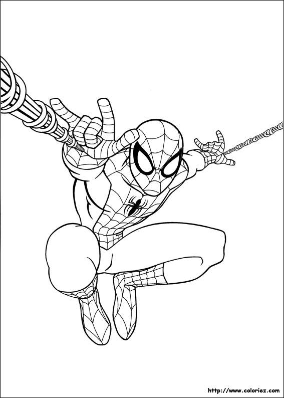 Coloriage super spiderman - Coloriage de spider man ...