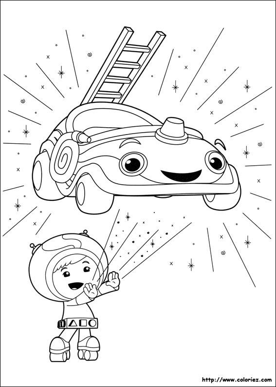 Coloriage transformation de la umi voiture - Jeux de umizoomi ...