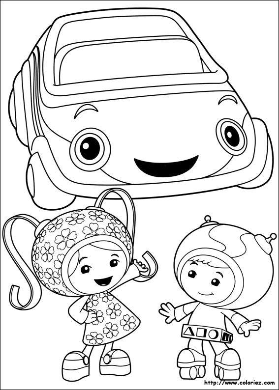 Coloriage la umi camion pompier for Umizoomi coloring pages