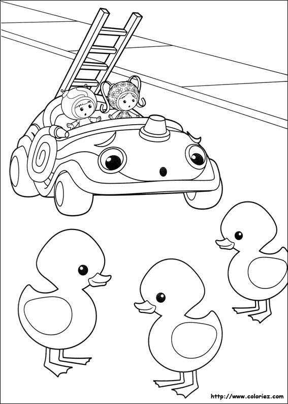 Coloriage trois petits canards - Jeux de umizoomi ...