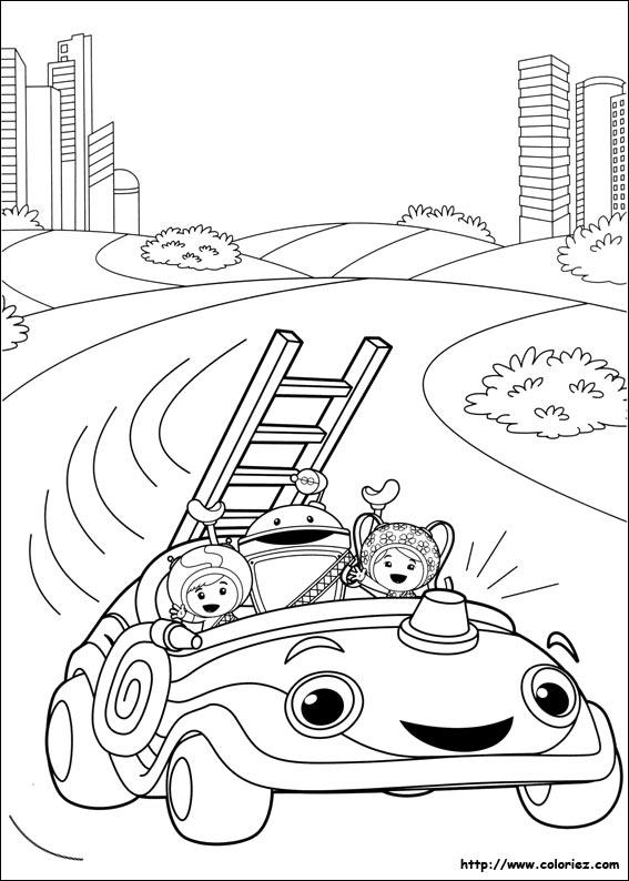 Coloriage en route pour sauver le chaton - Jeux de umizoomi ...