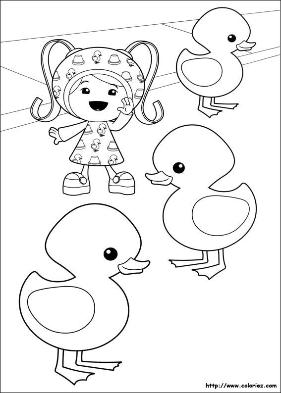 Coloriage mili et les canards - Jeux de umizoomi ...