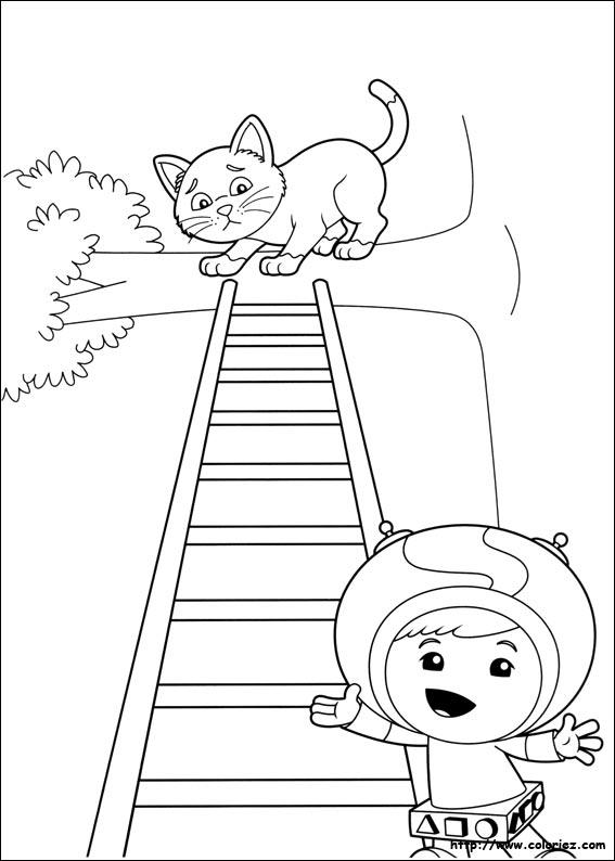 Coloriage la descente de petit chat - Jeux de umizoomi ...