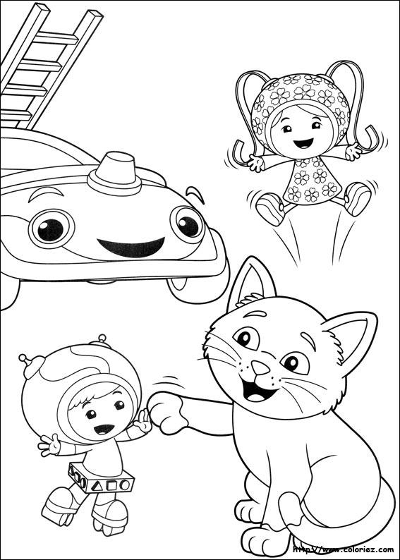 Coloriage le chat sauv - Jeux de umizoomi ...