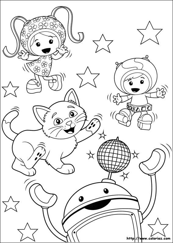 holiday coloring pages team umizoomi coloring pages les umizoomi et le petit chat font la