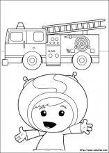 Coloriage de umizoomi - Dessin caserne pompier ...