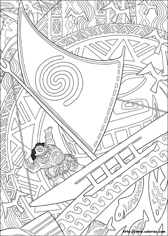 Coloriage Maui Maître Des Océans