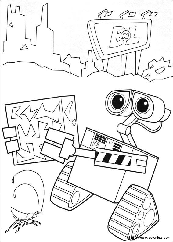 Wall-e est un petit robot programmu00e9 pour traitu00e9 les du00e9chets